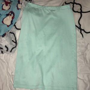 Moa women's mint pencil skirt sz L